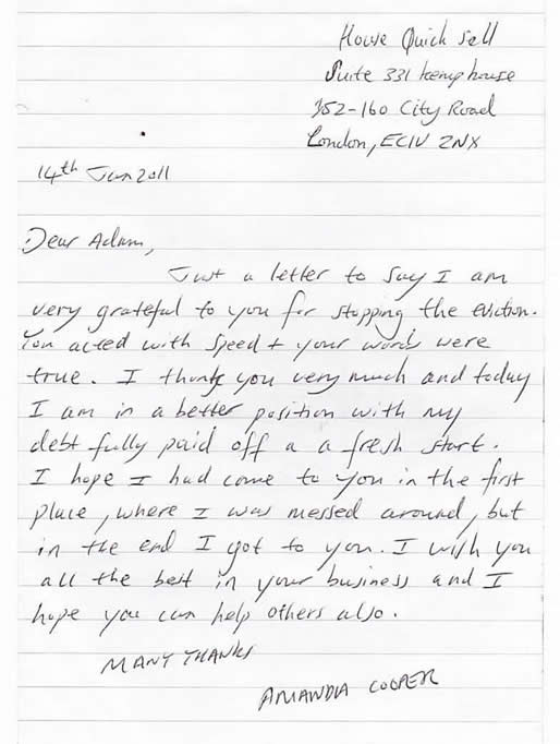 Another letter from a happy customer - Amanda