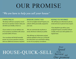 Our official House-Quick-Sell homebuying promise to you